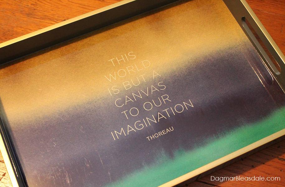 Thoreau quote tray
