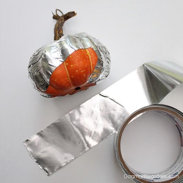 DIY metallic pumpkins