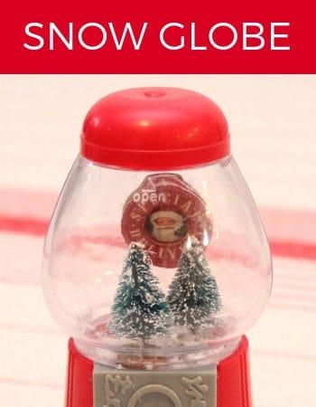 DIY Gumball Machine Snow Globe