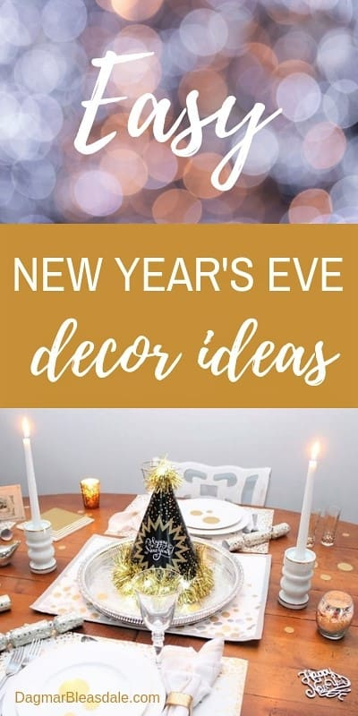 New Year's Eve Party supplies and decor ideas