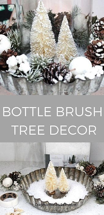 bottle brush tree decor