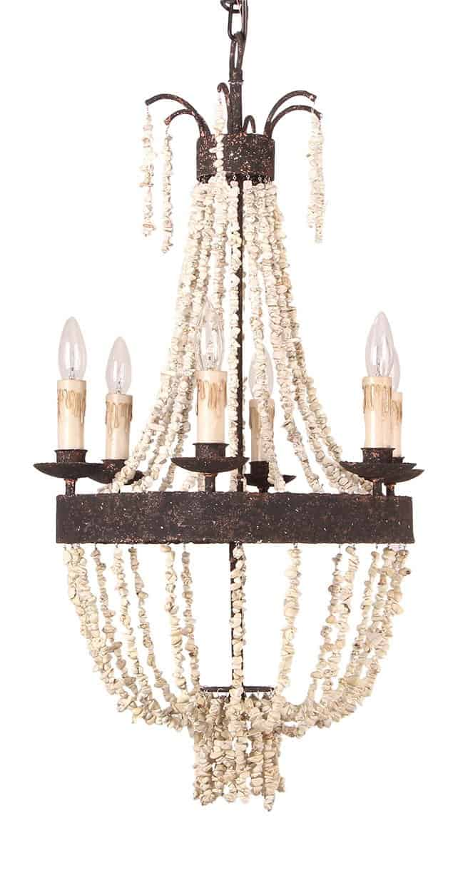beaded French empire chandelier