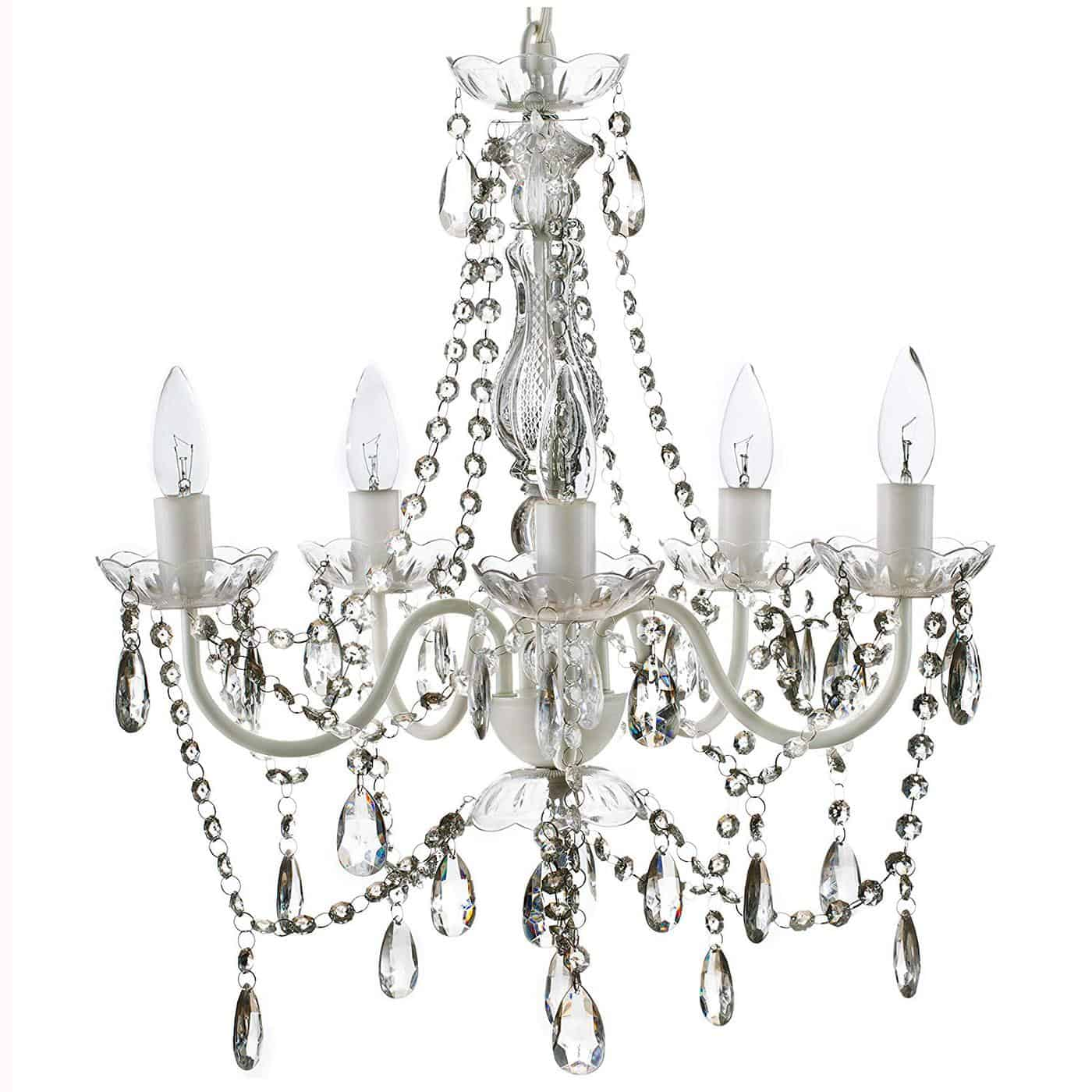 crystal chandelier farmhouse