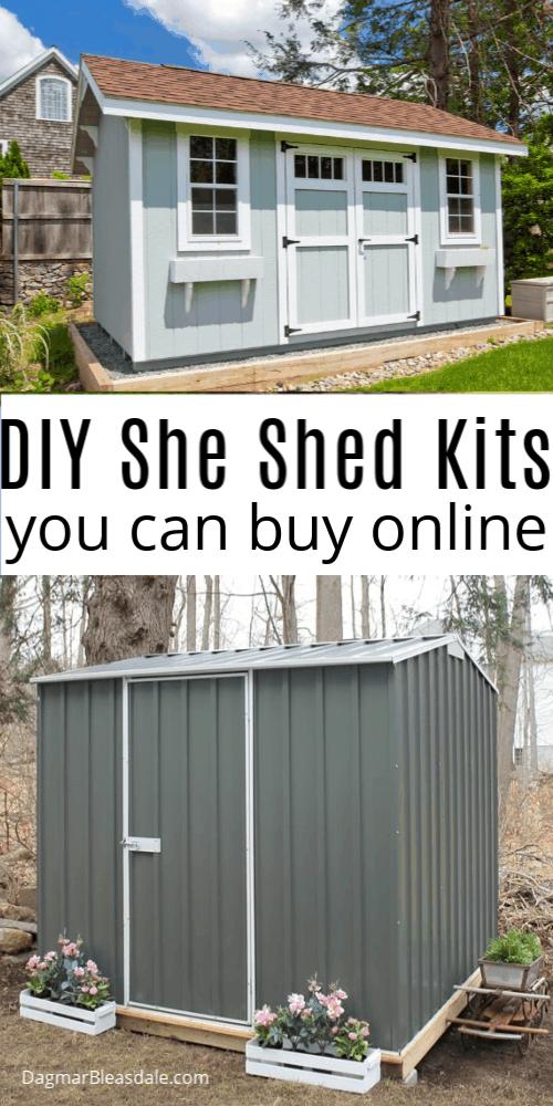DIY she shed kits
