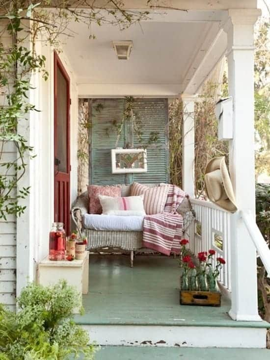 porch decorating ideas, porch curtain