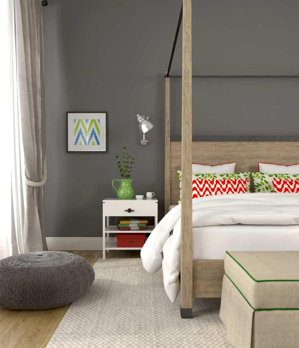 bedroom color dark gray