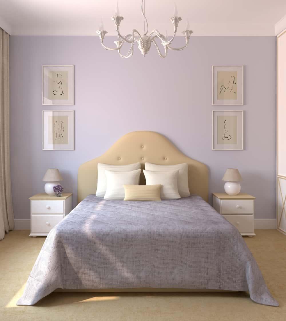 bedroom color light purple