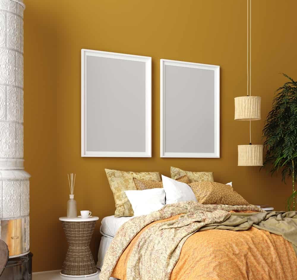 bedroom color mustard